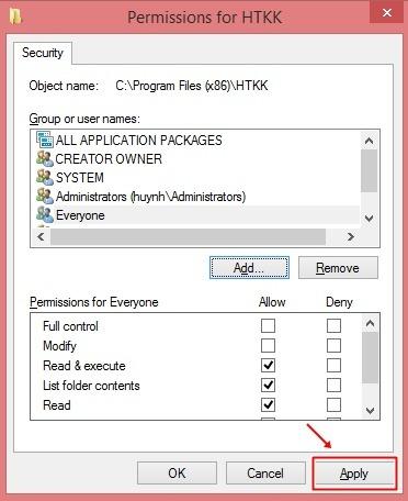 Hướng dẫn sửa lỗi tự thoát phần mềm htkk