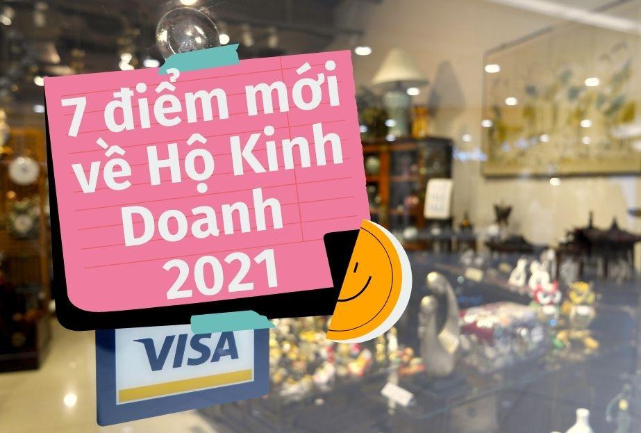 7 điểm mới về hộ kinh doanh 2021